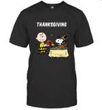 Charlie Brown Snoopy Peanuts thanksgiving T shirt Men Women Hoodie Sweatshirt