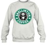 Skellinton Coffee Funny Coffee Lover Halloween Gift Sweatshirt