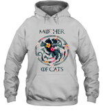 Mother Of Cats Symbol Floral Flower Cat Lover Hoodie