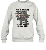 Soft Cold Happy Flying Dragon Little Fire Core Toothless Cartoon Gift For Toothless Dragon Lover Sweatshirt