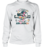 Don't Mess With Auntiesaurus You'll Get Jurasskicked Long Sleeve T-Shirt