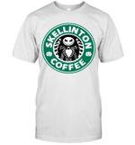 Skellinton Coffee Funny Coffee Lover Halloween Gift T-Shirt