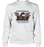 Game Of Bones House Dachshund Tails Are Wagging Gift For Dog Owner Long Sleeve T-Shirt