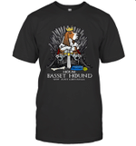 Game Of Bones House Basset Hound Shit Just GOT Real Funny Dog Lover Gift T-Shirt
