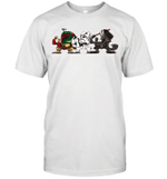 Boba Fett Storm Trooper Warriors Stars Warz Character Funny Gift T-Shirt