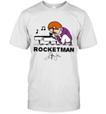 Rocketman  Freddie Mercury T Shirt Play The Piano Funny Graphic Women Queen Vintage Music T-Shirt