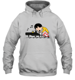 Freddie Mercury T Shirt Play The Piano Funny Graphic Women Queen Vintage Music Hoodie
