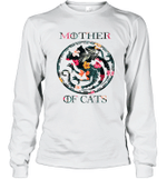 Mother Of Cats Inspired GOT Thrones Funny Cat Mom Gift Long Sleeve T-Shirt