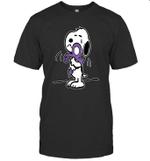 Peanuts Snoopy Hug Prince I Still Miss Prince Kiss Purple T-Shirt
