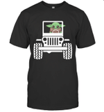 Baby Yoda Driving Jeep For Star Wars Jeep Lover T-Shirt
