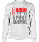 George Harrison Is My Spirit Animal Funny Beatles Fan Gift Long Sleeve T-Shirt