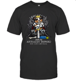Game Of Bones House Australian Shepherd Shit Just GOT Real Funny Dog Lover Gift T-Shirt