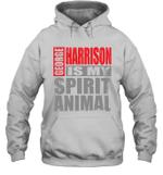 George Harrison Is My Spirit Animal Funny Beatles Fan Gift Hoodie