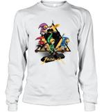 Zeldallica Zelda Link Metallica T shirt Video Game And Music True Fasn Long Sleeve T-Shirt