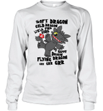 Soft Cold Happy Flying Dragon Little Fire Core Toothless Cartoon Gift For Toothless Dragon Lover Long Sleeve T-Shirt