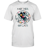Mother Of Cats Symbol Floral Flower Cat Lover T-Shirt