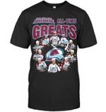 Colorado avalanche all time greats signed t shirt