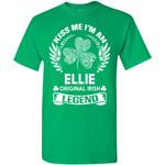 Kiss Me I'm An Ellie Original Irish Legend - Personal Custom Family Name Gift T-Shirt