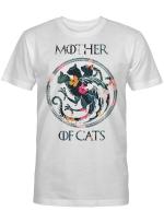 Mother Of Cats Symbol Floral Flower Cat Lover