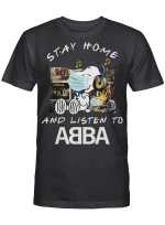 Abba Fans Gift - Stay Home And Listen To Music Snoopy Album