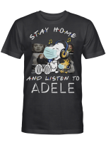 Adele Fans Gift - Stay Home And Listen To Music Snoopy Album