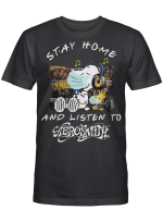 Aerosmith Fans Gift - Stay Home And Listen To Music Snoopy Album