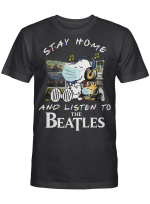 Beatles Fans Gift - Stay Home And Listen To Music Snoopy Album