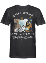 Britney Spears Fans Gift - Stay Home And Listen To Music Snoopy Album