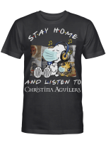 Christina Aguilera Fans Gift - Stay Home And Listen To Music Snoopy Album