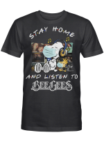 Bee Gees Fans Gift - Stay Home And Listen To Music Snoopy Album