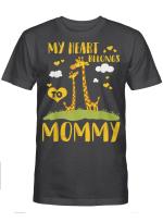 My Heart Belongs To Mommy Funny Giraffe