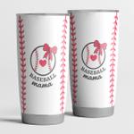 Baseball mama gift - tumbler