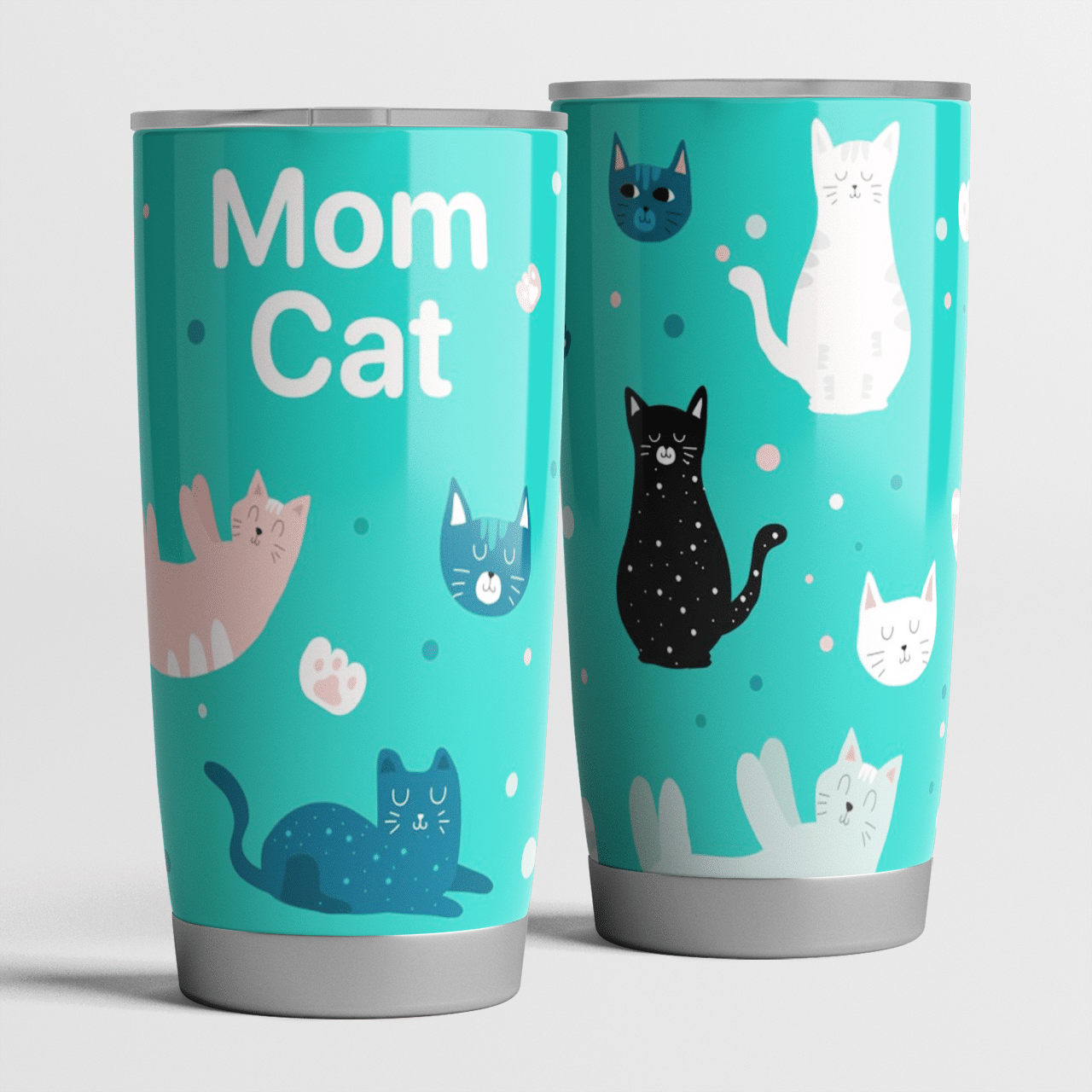Mom Cat - Cats Lover Gift - Tumbler