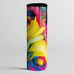 Colorful Rose Flower - Skinny Tumbler