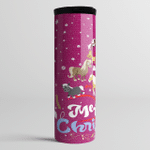 Merry Christmas Horse Lover Gift - Skinny Tumbler