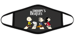 The Snoopy Beatles Peanuts Characters Funny Abbey Road Graphic