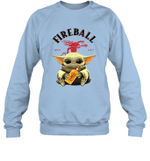 Baby Yoda Loves Fire Ball The Mandalorian Fan Sweatshirt