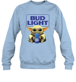 Baby Yoda Loves Bud Light Beer The Mandalorian Fan Sweatshirt