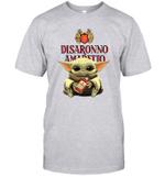 Baby Yoda Loves Disaronno The Mandalorian Fan T-Shirt