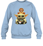 Baby Yoda Loves Jägermeister The Mandalorian Fan Sweatshirt