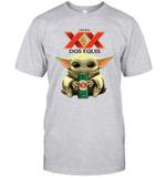 Baby Yoda Loves Dos Equis Beer The Mandalorian Fan T-Shirt