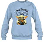 Baby Yoda Loves Jack Daniel_s The Mandalorian Fan Sweatshirt