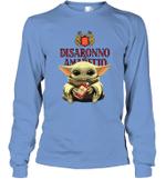 Baby Yoda Loves Disaronno The Mandalorian Fan Long Sleeve T-Shirt