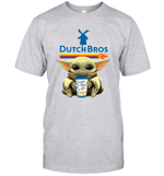 Baby Yoda Loves Dutch Bros Coffee The Mandalorian Fan T-Shirt
