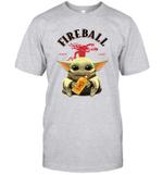 Baby Yoda Loves Fire Ball The Mandalorian Fan T-Shirt