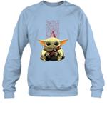 Baby Yoda Loves Apothic The Mandalorian Fan Sweatshirt