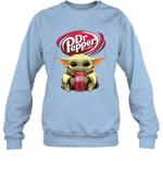 Baby Yoda Loves Dr Pepper Soda The Mandalorian Fan Sweatshirt