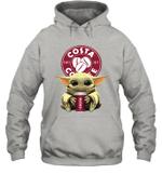 Baby Yoda Loves Costa Coffee The Mandalorian Fan Hoodie