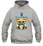 Baby Yoda Loves Dutch Bros Coffee The Mandalorian Fan Hoodie