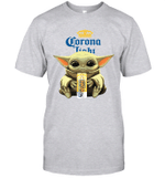 Baby Yoda Loves Corona Light Beer The Mandalorian Fan T-Shirt